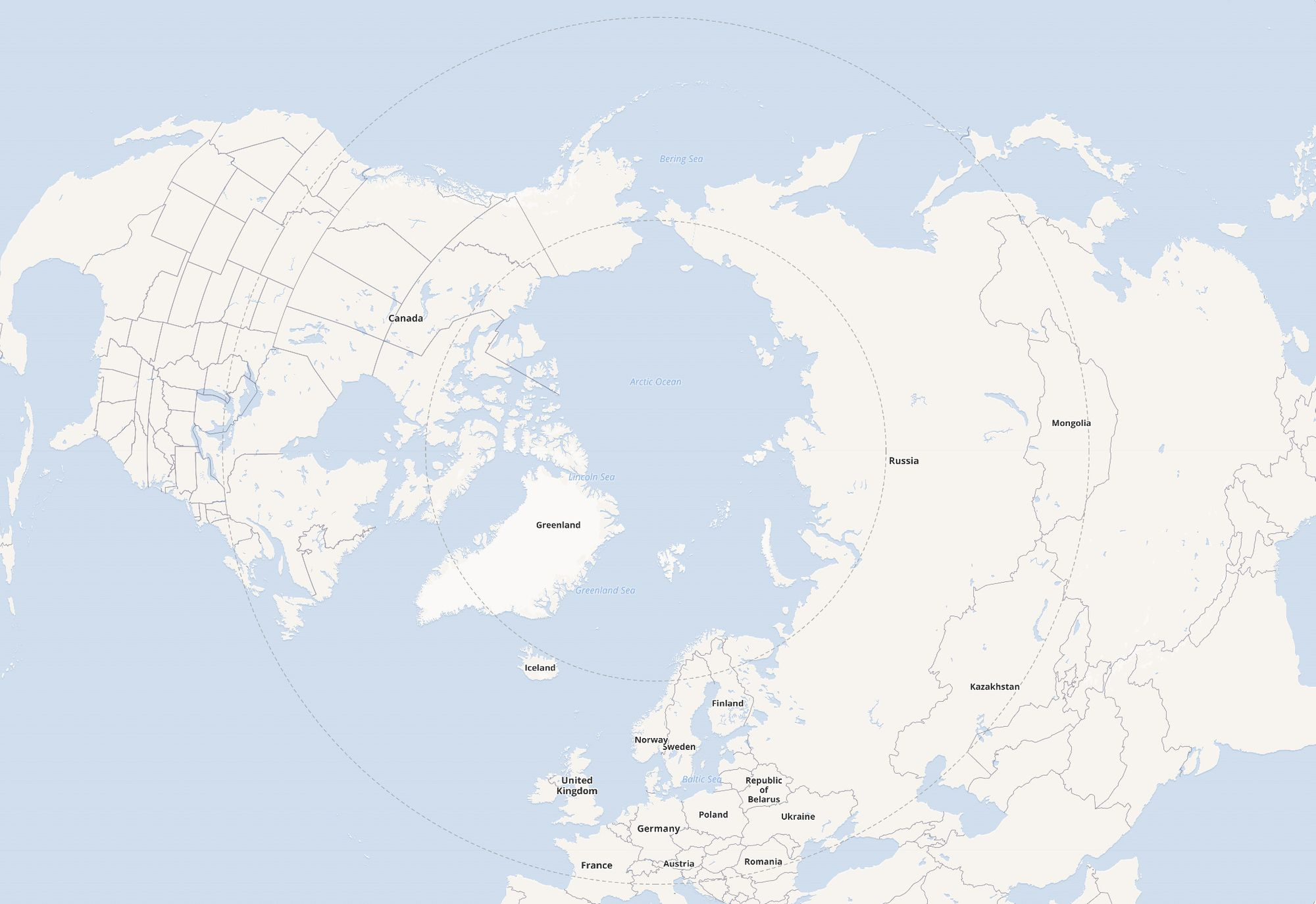Arctic Projections with Leaflet andReact