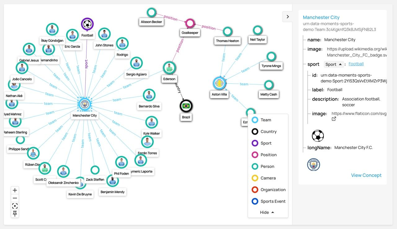 Knowledge Graph Visualization in Data Graphs