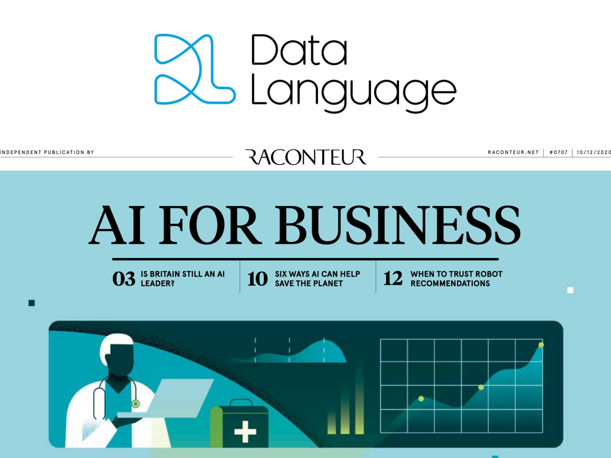 Data Language featured in The Times' AI for Business Supplement